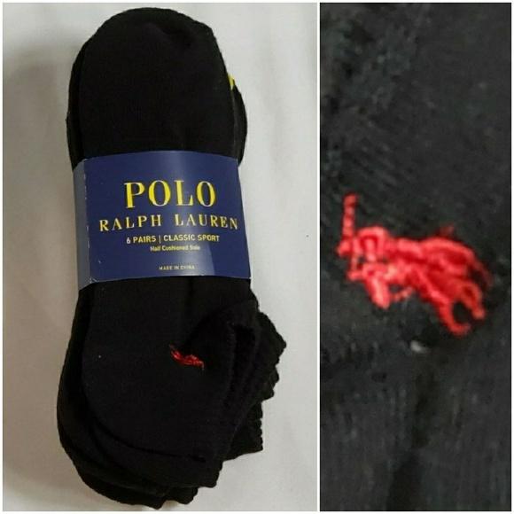 22883d24 Men's Polo Ralph Lauren 6 Pair Classic Sport Socks NWT
